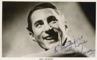 JACK JACKSON - AUTOGRAPHED INSCRIBED PHOTOGRAPH