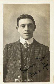 FRANK GEE - PICTURE POST CARD SIGNED CIRCA 1906