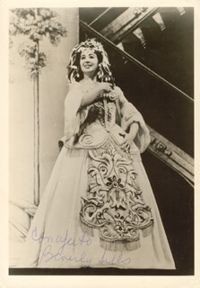 BEVERLY SILLS - AUTOGRAPHED SIGNED PHOTOGRAPH CIRCA 1968