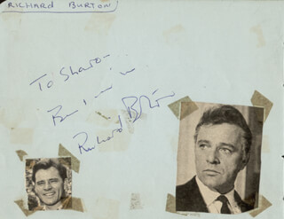 RICHARD BURTON - AUTOGRAPH NOTE SIGNED CO-SIGNED BY: RICHARD BROOKS