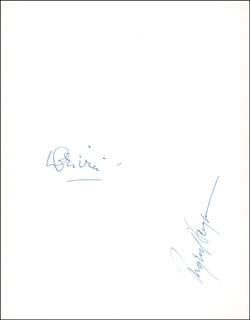 LAURENCE OLIVIER - PROGRAM SIGNED CIRCA 1956 CO-SIGNED BY: INGRID BERGMAN