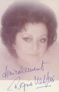 REGINE CRESPIN - AUTOGRAPHED SIGNED PHOTOGRAPH
