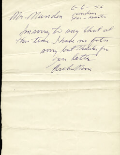 ARCHIE MOORE - AUTOGRAPH NOTE SIGNED 06/06/1956