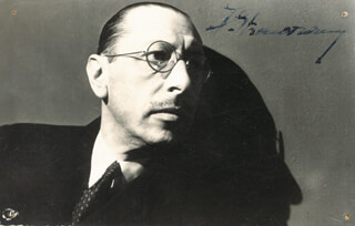 IGOR STRAVINSKY - PICTURE POST CARD SIGNED