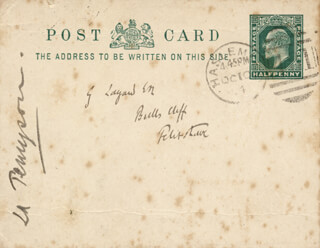 HALLAM TENNYSON - AUTOGRAPH NOTE SIGNED 1904