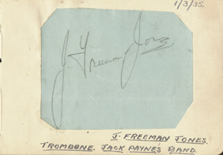 J. Freeman Jones Autographs 152833