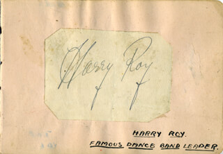 HARRY ROY - AUTOGRAPH 04/1935 CO-SIGNED BY: TINY WINTERS