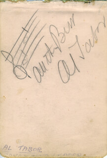 AL TABOR - AUTOGRAPH MUSICAL QUOTATION SIGNED