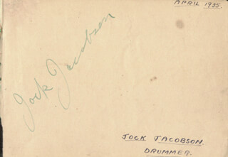 STANLEY BLACK - AUTOGRAPH CIRCA 1935 CO-SIGNED BY: DON BARRIGO, JOCK JACOBSON, DON MACAFFER