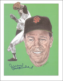 JUAN MARICHAL - PRINTED ART SIGNED IN INK
