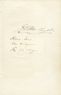 Autographs: FREDERIC DAN HUNTINGTON - SIGNATURE(S) 02/28/1859