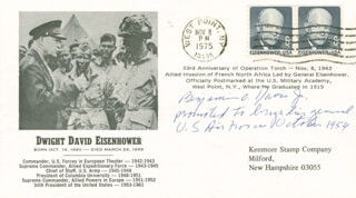 GENERAL BENJAMIN O. DAVIS JR. - COMMEMORATIVE ENVELOPE SIGNED
