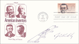 JACK S. KILBY - ORIGINAL ART ON FIRST DAY COVER SIGNED