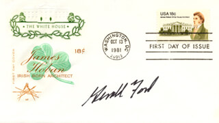 PRESIDENT GERALD R. FORD - FIRST DAY COVER SIGNED