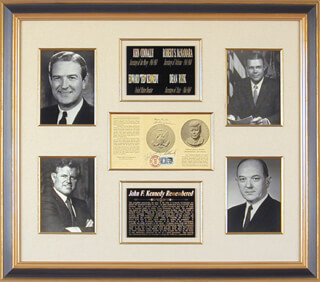 EDWARD TED KENNEDY - PAMPHLET SIGNED CO-SIGNED BY: DEAN RUSK, JOHN B. CONNALLY JR., ROBERT STRANGE MCNAMARA