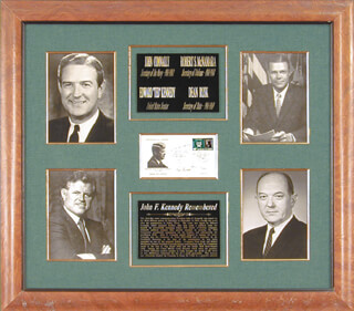EDWARD TED KENNEDY - FIRST DAY COVER SIGNED CO-SIGNED BY: DEAN RUSK, JOHN B. CONNALLY JR., ROBERT STRANGE MCNAMARA