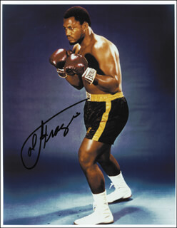 JOE SMOKIN JOE FRAZIER - AUTOGRAPHED SIGNED PHOTOGRAPH