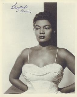 PEARL BAILEY - AUTOGRAPHED SIGNED PHOTOGRAPH  - HFSID 153389