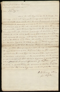 CHIEF JUSTICE ROGER B. TANEY - AUTOGRAPH MANUSCRIPT DOUBLE SIGNED 06/14/1808