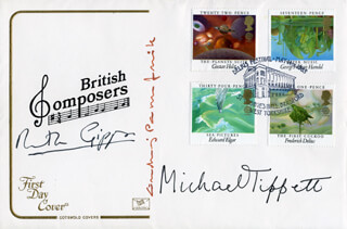 MICHAEL K. TIPPETT - FIRST DAY COVER SIGNED CO-SIGNED BY: RUTH GIPPS, ANDRZEJ PANUFNIK