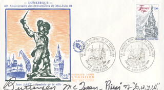 BUTTERFLY McQUEEN - FIRST DAY COVER SIGNED