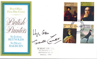 Autographs: HUGH CASSON - FIRST DAY COVER SIGNED CO-SIGNED BY: TERENCE CUNEO