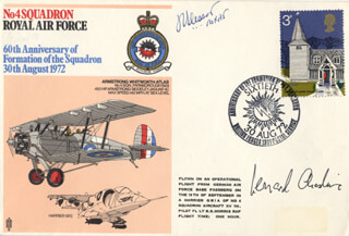 CAPTAIN G. LEONARD CHESHIRE - COMMEMORATIVE ENVELOPE SIGNED CO-SIGNED BY: MARSHAL JOHN C. SLESSOR
