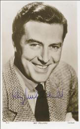 RAY MILLAND - PRINTED PHOTOGRAPH SIGNED IN INK