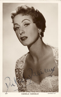 DANIELLE DARRIEUX - PICTURE POST CARD SIGNED