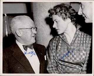 INGRID BERGMAN - AUTOGRAPHED INSCRIBED PHOTOGRAPH CO-SIGNED BY: JACK HYLTON