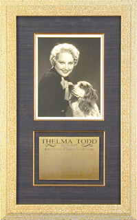 THELMA TODD - AUTOGRAPHED INSCRIBED PHOTOGRAPH