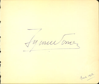 TYRONE POWER - AUTOGRAPH 03/1956 CO-SIGNED BY: CLARK BRATHERS