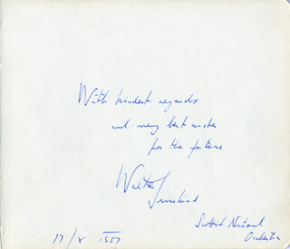 WALTER SUSSKIND - AUTOGRAPH NOTE SIGNED 10/17/1957