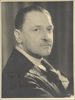 W. SOMERSET MAUGHAM - AUTOGRAPHED INSCRIBED PHOTOGRAPH