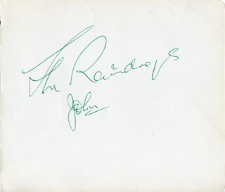Autographs: THE BACHELORS () - SIGNATURE(S) CO-SIGNED BY: THE BACHELORS (CONLETH CON CLUSKEY)