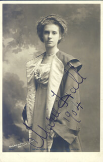 MARIE HALL - PICTURE POST CARD SIGNED 1904