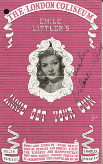 DOLORES GRAY - PROGRAM SIGNED