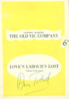 ANN TODD - PROGRAM SIGNED CIRCA 1955