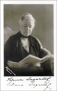 SELMA LAGERLOF - PICTURE POST CARD SIGNED
