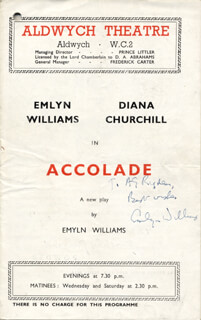 EMLYN WILLIAMS - INSCRIBED SHOW BILL SIGNED