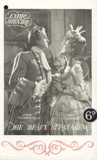 THE BEUAX STRATAGEM PLAY CAST - PROGRAM SIGNED CO-SIGNED BY: KAY HAMMOND, JOHN CLEMENTS