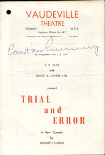 CONSTANCE CUMMINGS - PROGRAM SIGNED