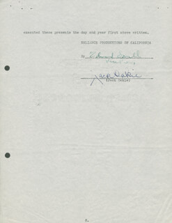 JACK OAKIE - CONTRACT SIGNED 10/15/1935