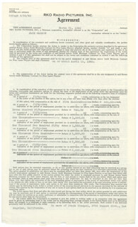 JACK CARSON - CONTRACT MULTI-SIGNED 03/25/1940
