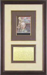 BRIGADIER GENERAL JAMES H. JIMMY DOOLITTLE - ILLUSTRATION SIGNED