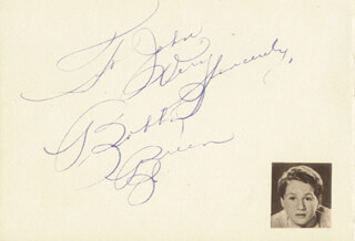BOBBY BREEN - AUTOGRAPH NOTE SIGNED CO-SIGNED BY: DAVID JAMES