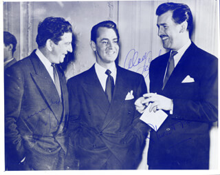 ALAN LADD - AUTOGRAPHED SIGNED PHOTOGRAPH CO-SIGNED BY: STEWART GRANGER, SID FIELD