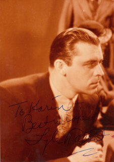LYLE TALBOT - AUTOGRAPHED INSCRIBED PHOTOGRAPH