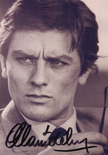 Autographs: ALAIN DELON - PHOTOGRAPH SIGNED