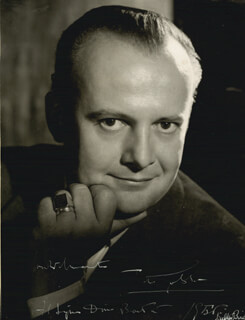 TITO GOBBI - AUTOGRAPHED INSCRIBED PHOTOGRAPH 1956 CO-SIGNED BY: WALTER BIRD